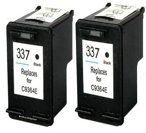2-NO-OEM-reemplaza-apto-para-HP-337-Photosmart-C4188-C4190-Negro-Cartuchos-de