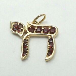 14K-Gold-Hebrew-Jewish-Chai-Charm-Pendant-2-2-gr
