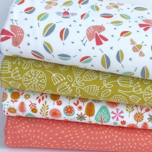 DASHWOOD Cuckoo/'s Calling 100/% Cotton Fabric FQ Bundle or 25cm x 25cm Bundle