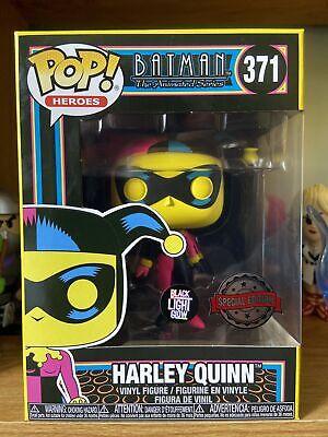 Funko Pop Harley Quinn Blacklight 371 Special Edition Batman Animated Series New