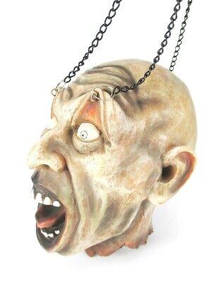 Aufstrebend Zombie Schädel Totenkopf Skull Relief Poly 17 Cm Zum Aufhängen