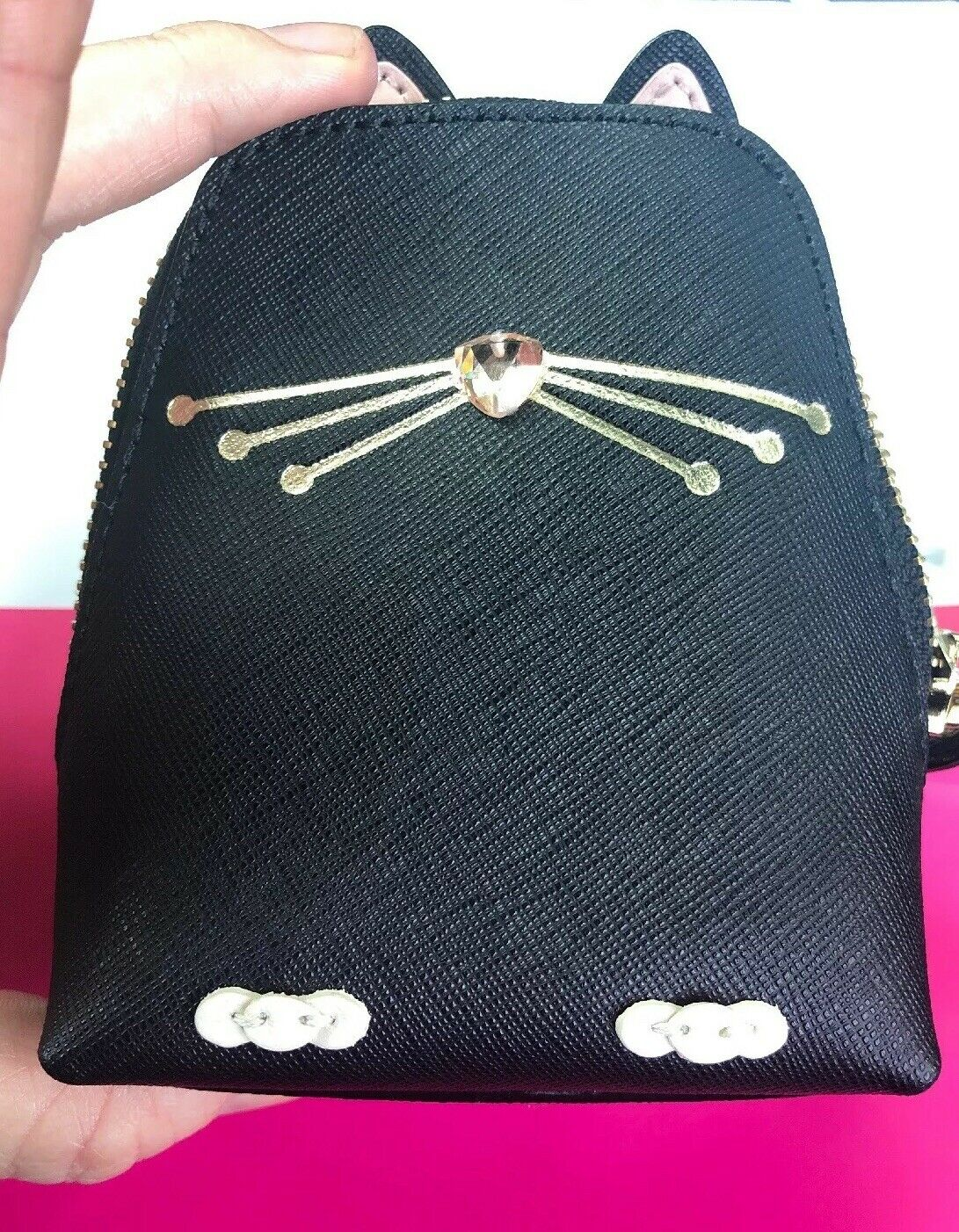 NEW Kate Spade New York Black Cat Jazz Things Up Coin Purse-NWT Just Out!