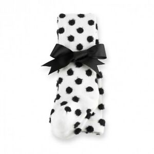 MUD-PIE-FUZZY-DOT-TIGHTS-WHITE-BLACK-Baby-Girls-Size-9-12-Months-Dressy-NWT