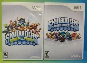 Skylanders-2-Game-Lot-Swap-Force-amp-Spyro-039-s-Adventure-Nintendo-Wii-Wii-U-Tested