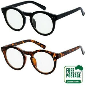 Clear-Lens-Glasses-Stylish-Large-Round-Frame-Retro-Vintage-FREE-POSTAGE