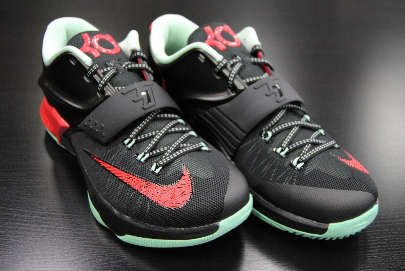 [653996 063] NEW MEN'S NIKE KD VII VII VII 7 BAD APPLES BLACK ACTION RED MID MIND LE569 cceb95