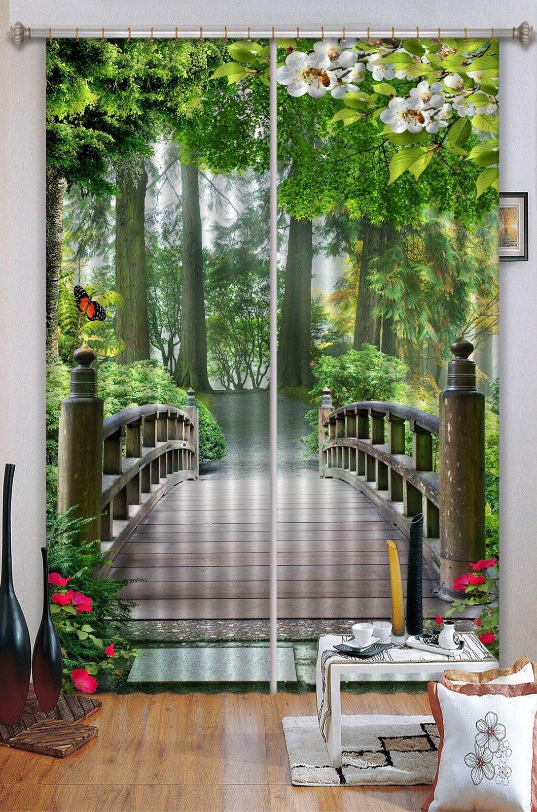 Puente de 3D 703 Cortinas de impresión de cortina de foto Blockout Tela Cortinas Ventana au