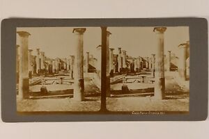 Italia-Pompei-Foto-Stereo-Vintage-Citrato-c1900