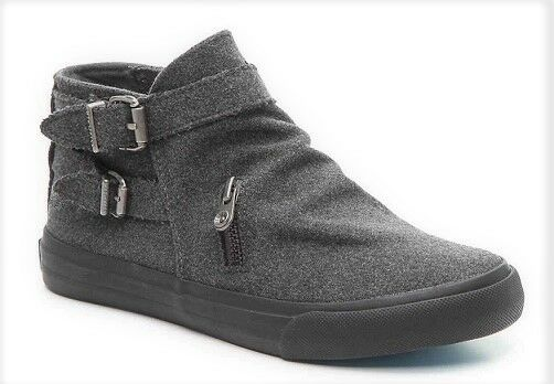 Blowfish Mondo boots ankle charcoal gray flannel sz 6.5 Med NEU