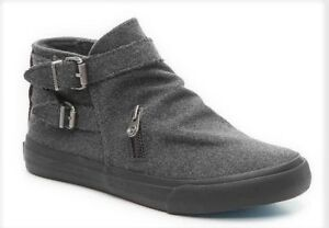 Blowfish-Mondo-boots-ankle-charcoal-gray-flannel-sz-9-Med-NEW
