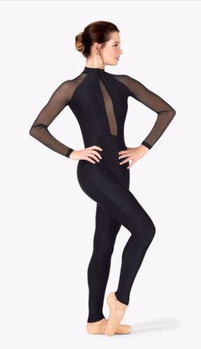 Unitard Black dance Halloween costume. Medium. Per