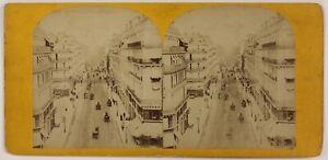 Parigi-Animata-Rue-Lafayette-Foto-Stereo-P28T4n16-Vintage-Albumina-c1865
