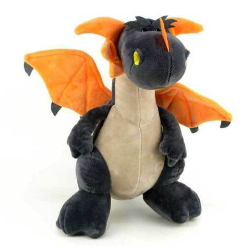 """A Plush Dragon Toy Stuffed Animal by NICI toys Grey 12/"""" Tall Standing Kid Gift"""
