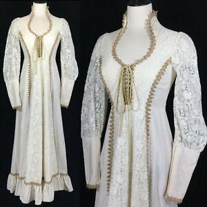 vtg 70s gunne sax corset lace renaissance victorian
