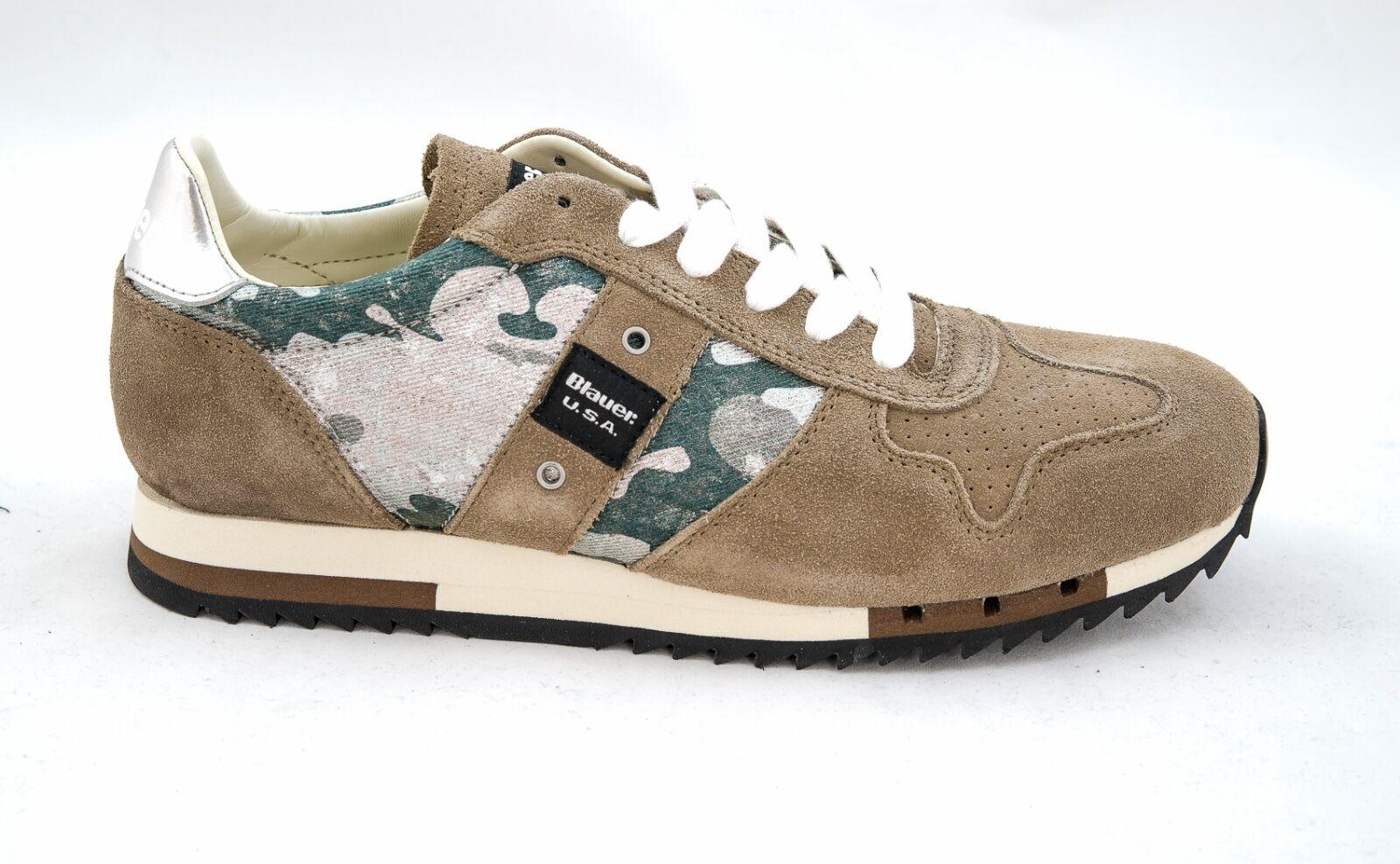 blueer, Men's Camo Sneaker, 6SRUNLOW, New