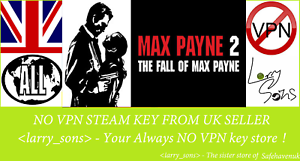 100% Vrai Max Payne 2: The Fall Of Max Payne Steam Key No Vpn Region Free Uk Seller Lustre Brillant