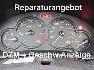 Reparatur Tacho + Drehzahlmesser Peugeot 206 (mit 2