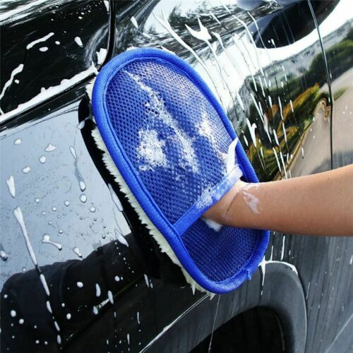 Car Gloves Cleaning Washing Wash Microfiber Brush Tools Glove Soft Auto Wool