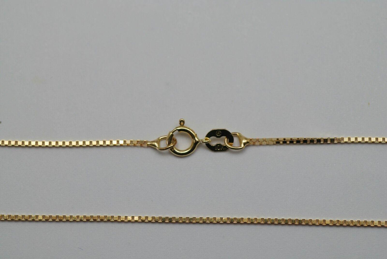 10K gold fine box link ankle bracelet