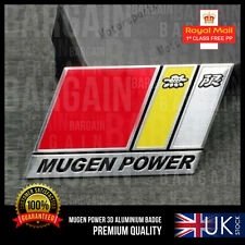 Mugen Power SIDE BADGE EMBLEMA NUOVO DESIGN HONDA CBR assistenza clienti CRV Civic RR RS S Type R