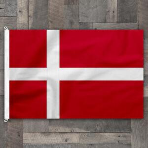 100% Cotton Stitched Design Denmark World Flag Danish Pennant Banner Made in USA