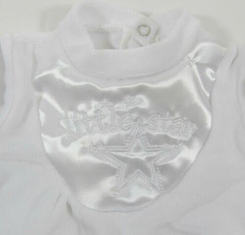 Premature Tiny Baby All in One Boys Girls Unisex Babygrow Little Star Velour 3 8
