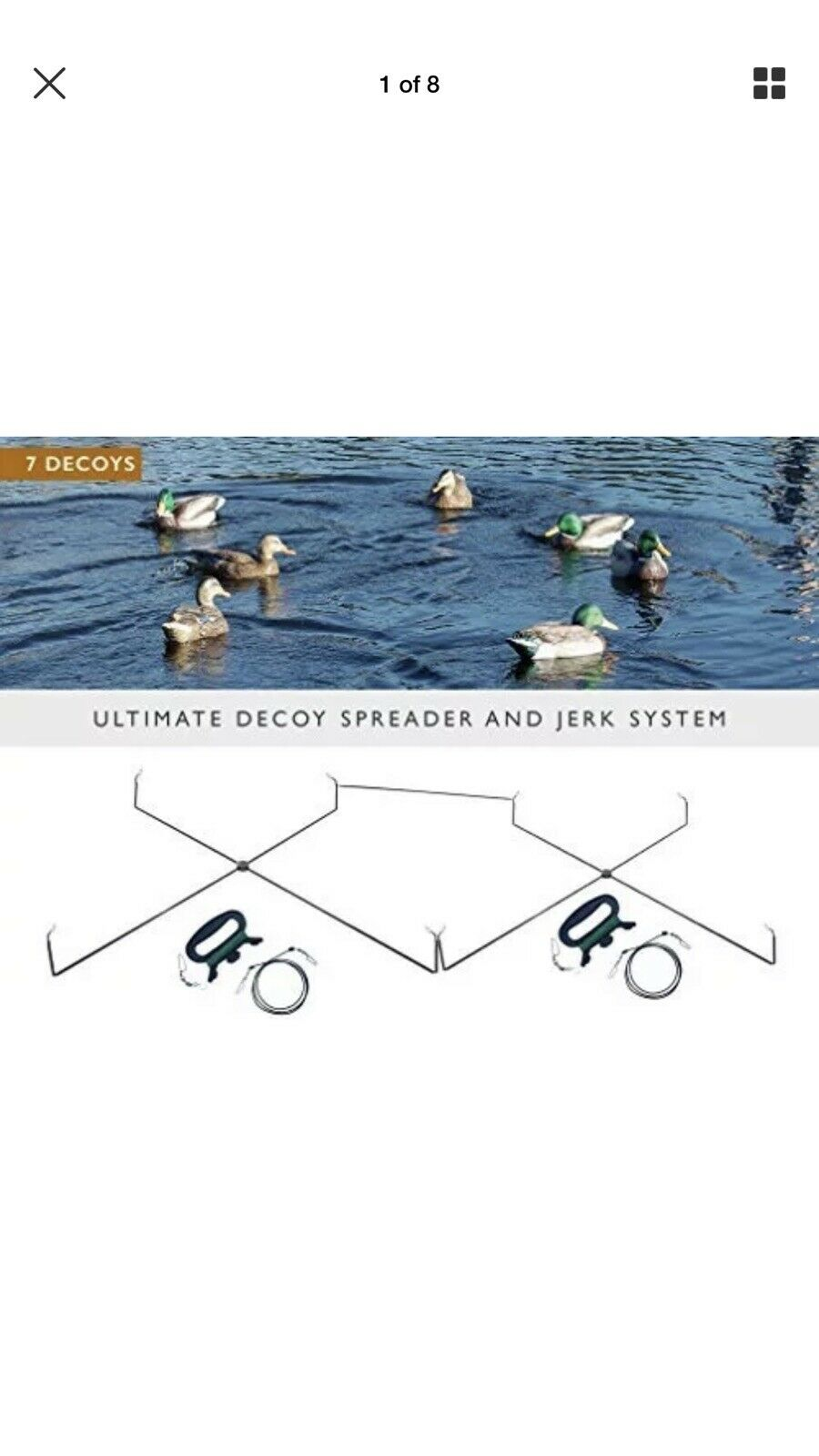 Nuevo movimiento Ducks-Ultimate Señuelo Esparcidor y Jerk Rig-Envío Gratuito