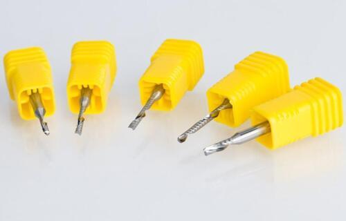 5pcs 3.175x1.5x7mm Single Flute Acrylic PVC milling tools Cutter CNC Router Bits