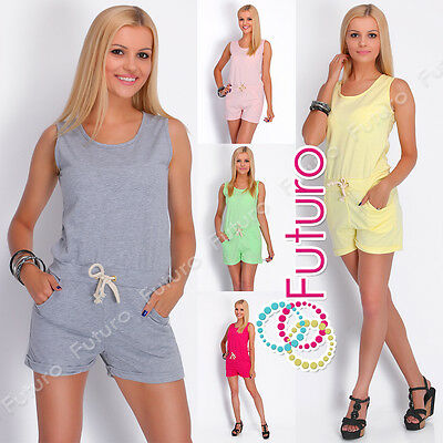 Sonnig Casual Ladies Playsuit With Pockets Sleeveless Party Jumpsuit Size 8-12 2517