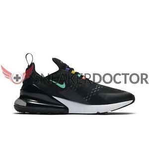 Nike Mens Air Max 270 Running Shoes BlackFlash CrimsonUniversity Gold AH8050 023 Size 10