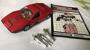 Transformers G1 Overdrive 100% Comp.   Près de la menthe 1985
