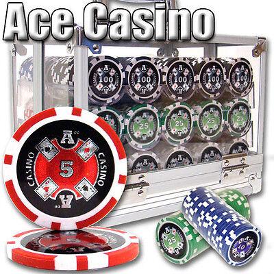 Pick Denominations! New Bulk Lot of 1000 Ace Casino 14g Clay Poker Chips