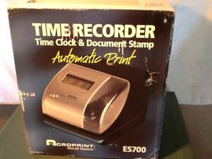 Details About Time Recorder Time Clock Date Stamp Es7000