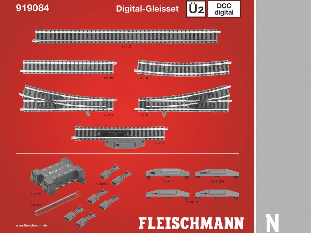 Fleischmann 919084-DCC digital-gleisset 2 ü2-Spur N-NUOVO