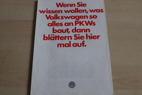 Modellprogramm inkl VW 144811 Käfer Prospekt 08//1979