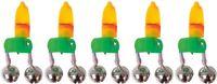 5 Fladen Bell Tip Lights Bite Alarm Indicator For Sea Fishing Beachcaster Rod