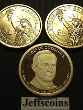 2014 P D S Calvin Coolidge Presidential Golden Dollar US MINT+ Proof 3 New Coins