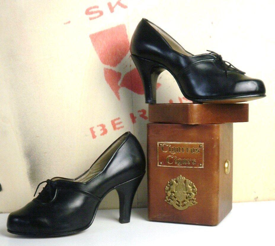 ETE Perciosa Damen Pumps NOS 30´s 30er TRUE VINTAGE 30´s NOS Schuhe 40er Stiletto 40´s 4ef278