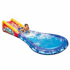 Banzai Inflatable Wave Crasher Surf Water Slide and Pool with Body Board