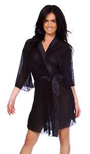 sexy plus size sheer kimono dress gown bath robe babydoll