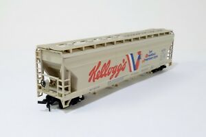 Tyco-55-039-Center-Flow-Hopper-Kellogg-039-s-358A-HO-Scale-Train-Car-Model-MIB