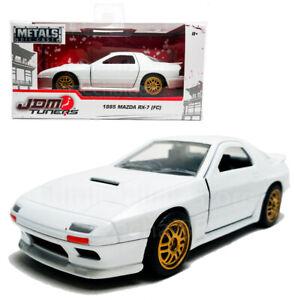 Jada-1-32-JDM-sintonizadores-DIE-CAST-1985-Mazda-RX-7-FC-coche-blanco-modelo-Collection