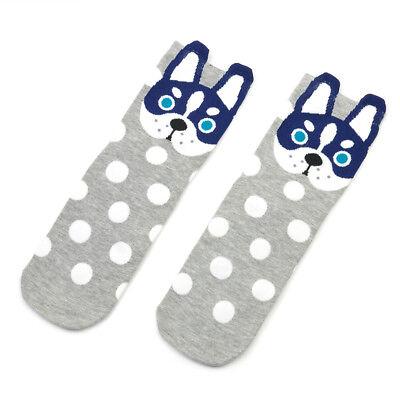 Cute Cotton Dogs Women's Socks Cats Small Ear Cartoon Animal Wave Point Dot