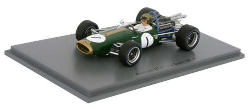 Spark S4778 Brabham BT19 #1 2nd GP 1967-Jack Brabham holandés escala 1//43