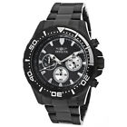 New Men's Invicta 12919 Pro Diver Chrono Black Textured Dial Plated Steel Watch