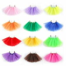 US Toddler Kids Tulle Tutu Skirt Ballet Dancewear Dress Girl 3 Layer Pettiskirts