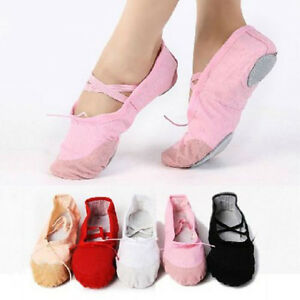 Adulte Enfant Chaussons Toile Danse Chaussures Classique Ballet rxshdQtC