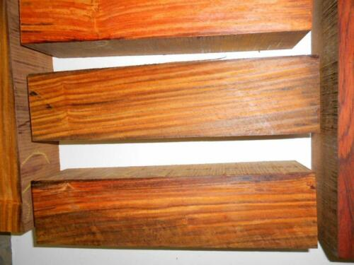 """5 pieces cocobolo rosewood turning squares 2/"""" x 2/"""" x 17/"""" long REAL ROSEWOOD!"""