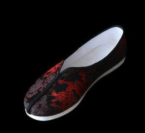 Kung Fu Martial Arts Tai Chi Shoes Deluxe Hand Sew Sole Soft Cushion #201