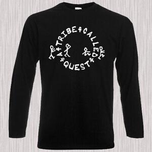ATCQ-A-Tribe-Called-Quest-Logo-Rap-Men-039-s-Long-Sleeve-Black-T-Shirt-Size-S-to-3XL